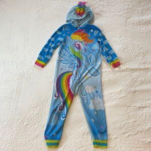 My Little Pony hooded onesie pajama Rainbow Dash S
